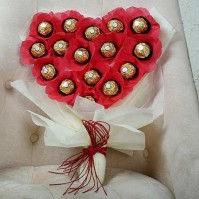 Heart with Chocolate Bouquet